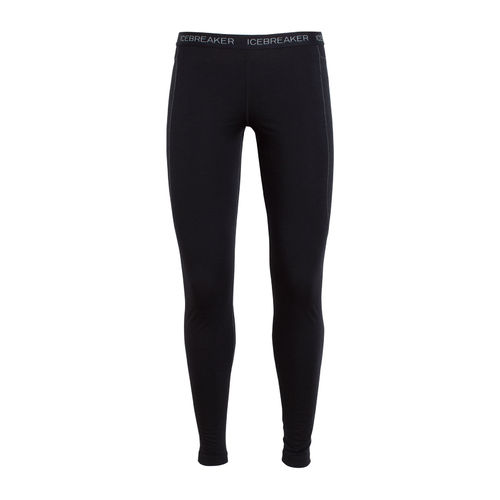 Icebreaker Women's Zone 200gm Merino Full Length Base Layer Leggings with Mesh Panels