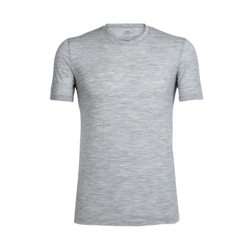 Icebreaker Men's Tech Short Sleeve Crewe [Colour: Metro Heather] [Size: Large]