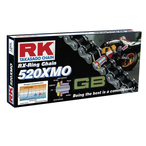 RK Takasago Chain RX-Ring 120 Link Chain 520XMO Gold