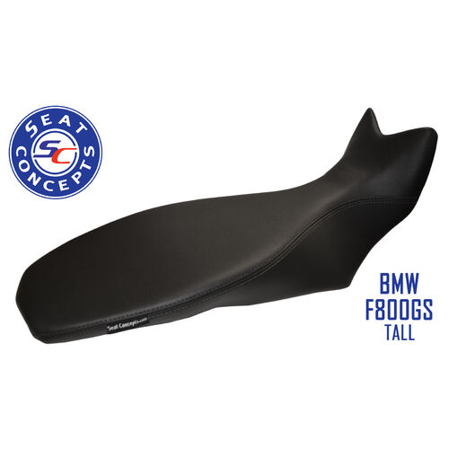 Seat Concepts BMW F650/700/800GS (2008-2018) TALL Comfort [Seat Option: Complete Seat] [Cover Option: All Black Vinyl]
