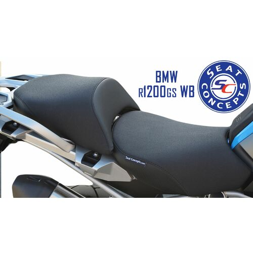 Seat Concepts BMW R1200GS/ R1200GSA Water Boxer Standard [Cover Options: Carbon Fiber Sides/Gripper Top] [Other Options: GS Model] [Seat Options: Fron