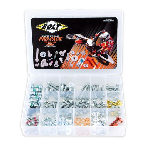 Bolt Euro Style Pro Pack Hardware Kit for KTM, Husaberg (2003-Current) & Husqvarna (2014-Current)