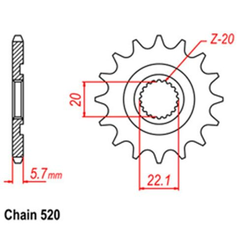 RK Front Sprocket 13T #520