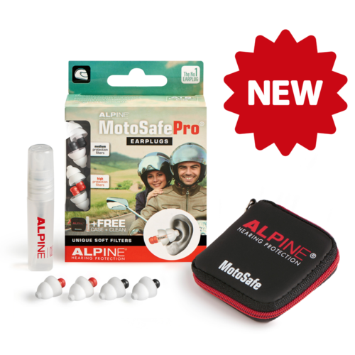 Alpine Hearing Protection MotoSafe Pro Earplugs