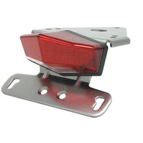 DRC Edge-2 Tail Light and Number Plate Holder Kit for Suzuki DRZ400S/ DRZ400E/ DRZ400SM [Colour: Red]