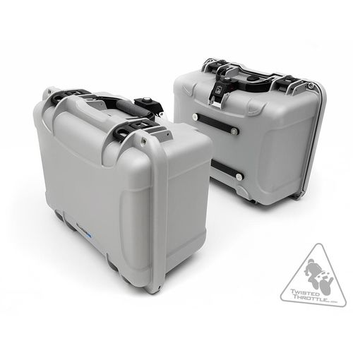 DrySpec H35 A-Lock Waterproof 35L Side Case Set Silver 70 Litres Total