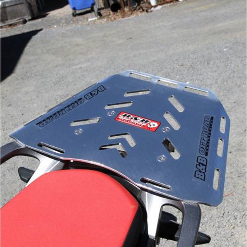 B&B Off Road Honda CRF1000L Africa Twin Maxi Rear Luggage Plate Silver [Colour: Silver] [Size: Maxi]
