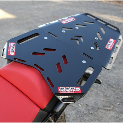 B&B Off Road Honda CRF1000L Africa Twin (2016-2018) Rear Luggage Big Tour Plate with Maxi Plate Kit Black