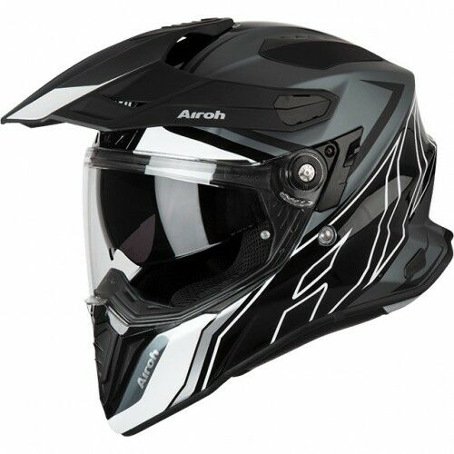 Airoh Commander Duo Gloss/Matte Black Helmet [Size: Small]