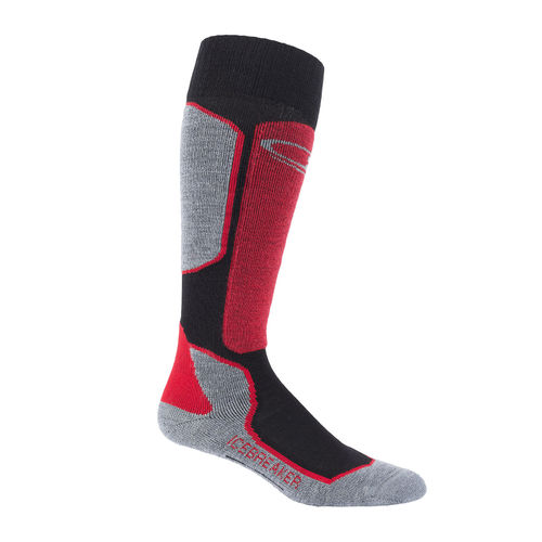 Icebreaker Men's Ski + Light Over the Calf Socks [Colour: Black/ Rocket] [Size: XLarge]