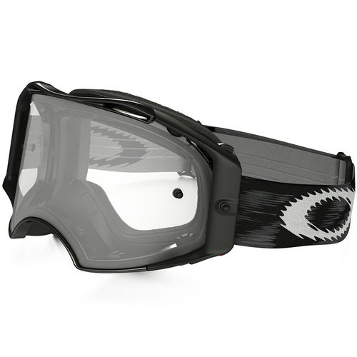 Oakley Airbrake MX Jet Black Speed Goggles with Clear Lens