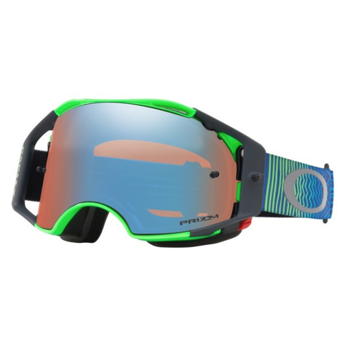Oakley Airbrake MX Shockwave Blue Green /Prizm with Sapphire Lens