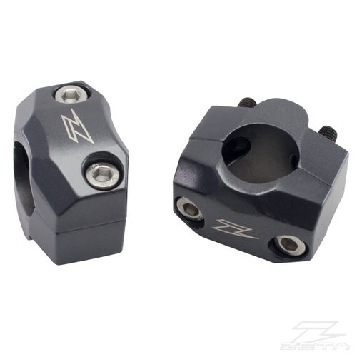 Zeta UX3 Bar Clamp Kit Adds 22mm Rise, Adapts 22.2mm (7/8 Inch) Bar Clamp to Accept 28.6mm (1 1/8 Inch) Bars